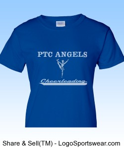 Ladies Royal Blue PTC T-Shirt Design Zoom