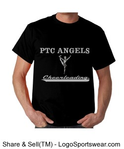 Unisex Black PTC Angels T-shirt Design Zoom